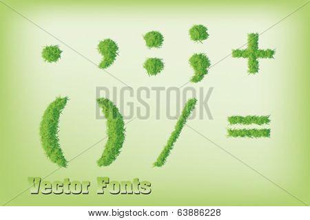 Grass font symbols