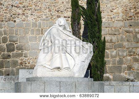 Statue Of St. Teresa In Avila Spain
