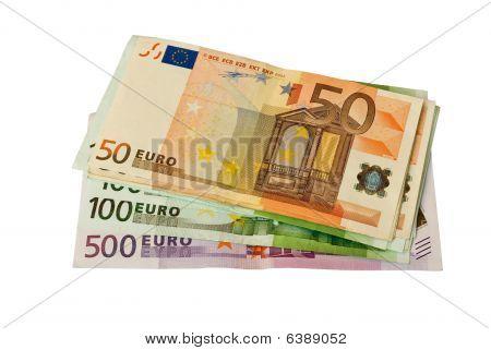 Stacked Euro Bills