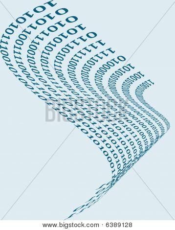 a binary wave on a light background