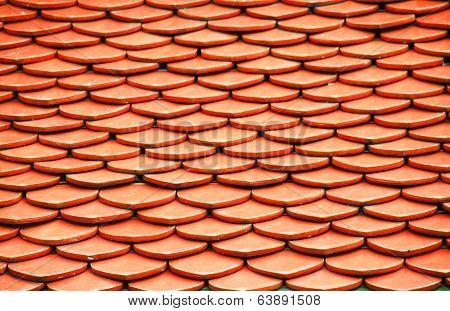 orange Roof of Wat Phra Keaw,