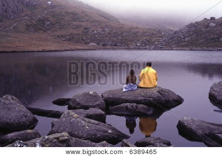 Mountain lake in Snowdonia