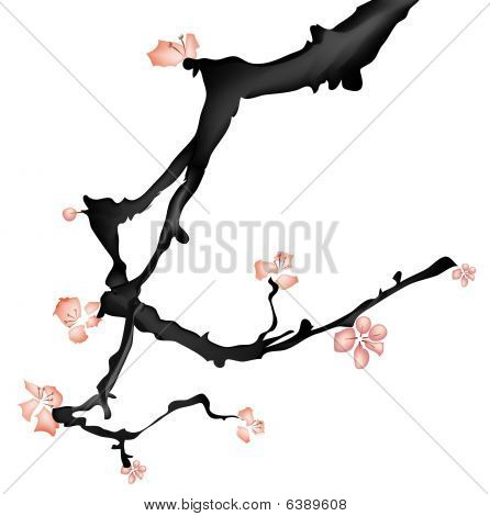 Chinese Painting Of Plum Flower