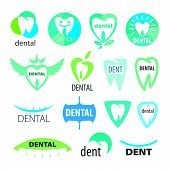 image of prosthetics  - a collection of vector icons dentistry - JPG