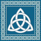 picture of pagan  - Ancient symbol triskel traditional element for celtic ethnic design  - JPG