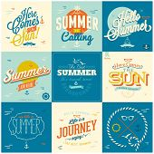 picture of nostalgic  - 9 Vintage styled Summer Card  - JPG