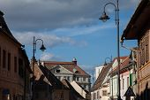 image of sibiu  - street view of the historic town of Sibiu, Romania