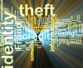 Постер, плакат: Identity кражи Wordcloud светящийся