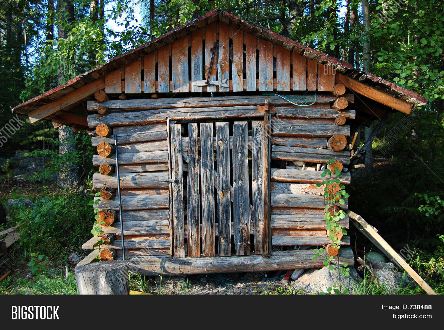 Wood shack image photo bigstock for Small shack plans
