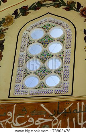 An interior view of Green Mosque. Bursa Turkey