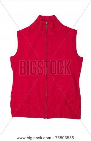 Crimson Knitted Vest.