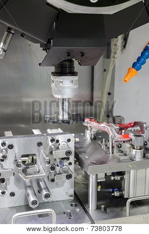 Industrial Metal Machining Cutting Process Of Automotive Parts By Tool