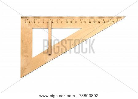Triangle Wooden Isolated On White Background