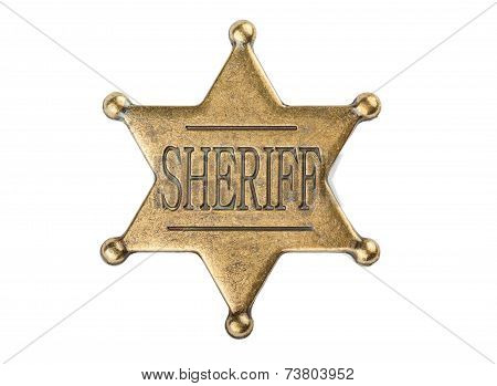 Vintage Sheriff Star Badge