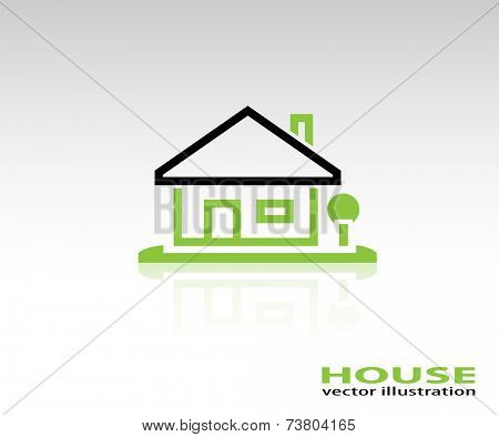 Home Icon on white background. Illustration Vector.
