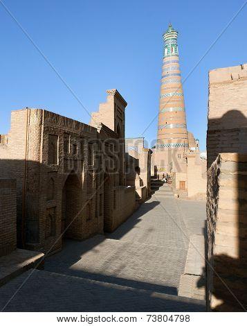 Islom Hoja Minaret In Itchan Kala - Khiva