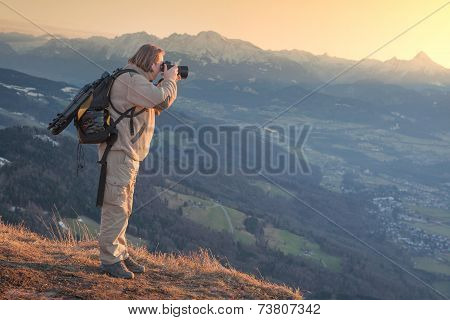 Photographer In The Mountain