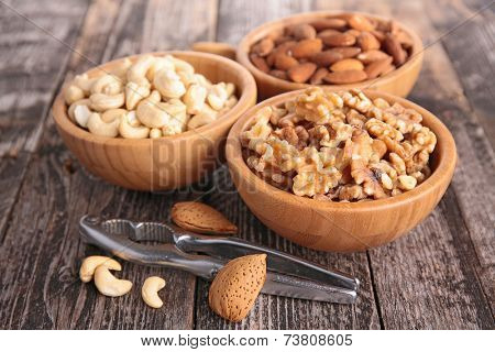 almond,walnut and cashew