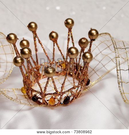 Gold Crown On A White Background