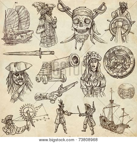 Pirates A Hand Drawn Collection