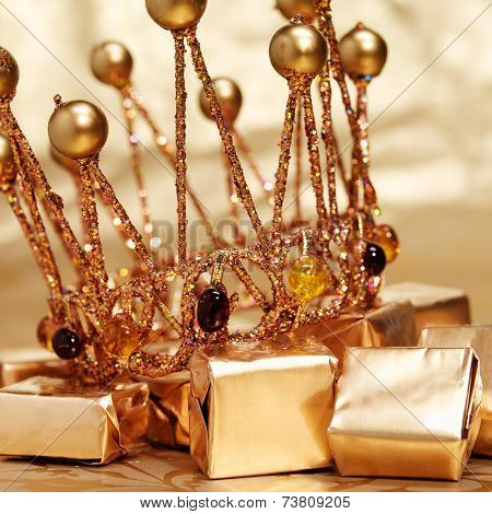 Gold Crown With Candies