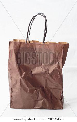Crumpled Shopping Paper Bag