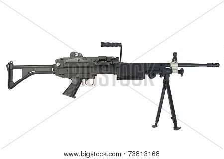 Us Army Machine Gun Isolated On White