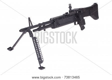 M60 Machine Gun Isolated On White