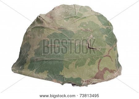 Us Army M1 Helmet With Mitchell Pattern Camouflage Cover Vietnam War Period