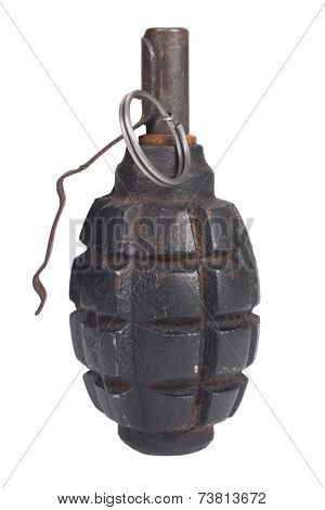 Pineapple Grenade Isolated On A White Background