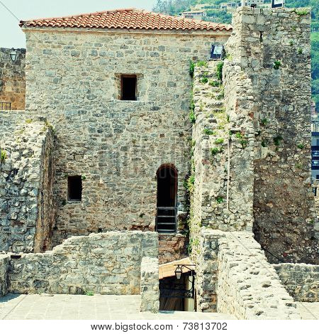 Old Houses In Budva, Montenegro.