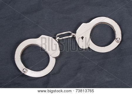 Handcuffs On Black