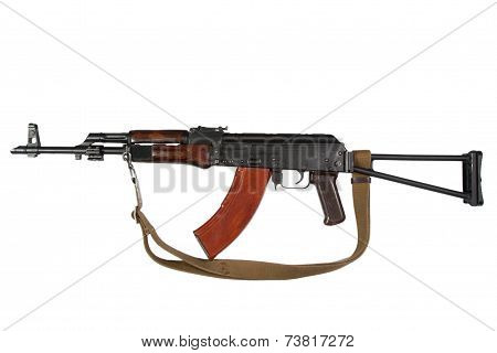 Ak rifle isolated On A White Background