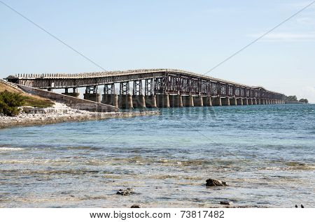 Old Seven Mile Bridge In Florida
