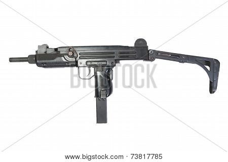 Submachine Gun Isolated On White