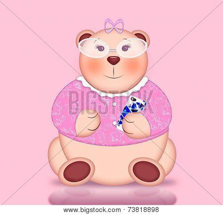 Portrait of Cute Bear Girl