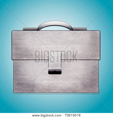 Leather White Briefcase