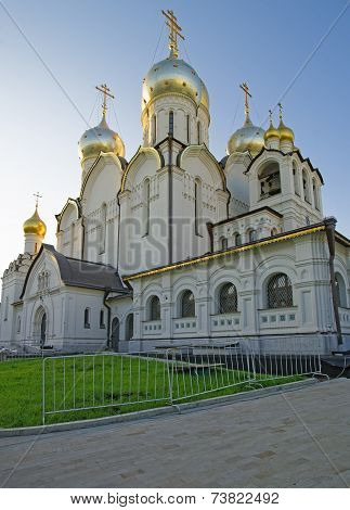 Cathedral Of Nativity Of Mary In Conception Convent In Moscow View From Entrance
