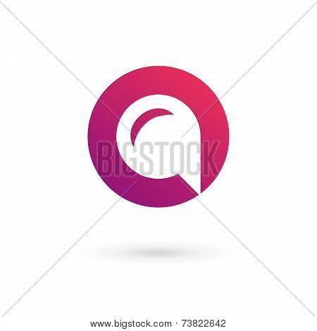 Letter O Speech Bubble Logo Icon Design Template Elements