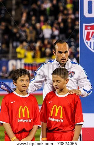 HARTFORD - OCTOBER 10: Landon Donovan on Rentschler Field stadium before soccer match between US Men`s National Team vs Ecuador, on October 10, 2014, in Rentschler Field stadium, Hartford, USA.