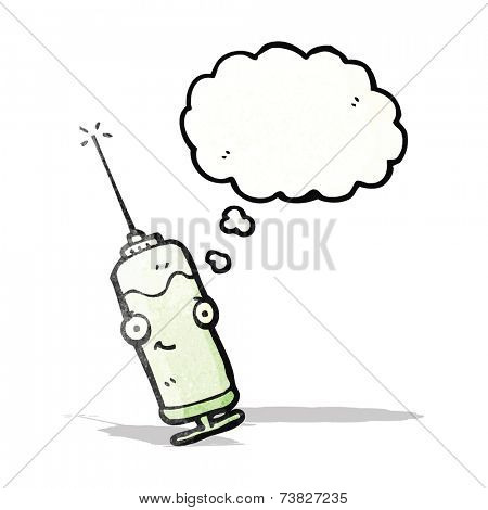 cartoon injection needle