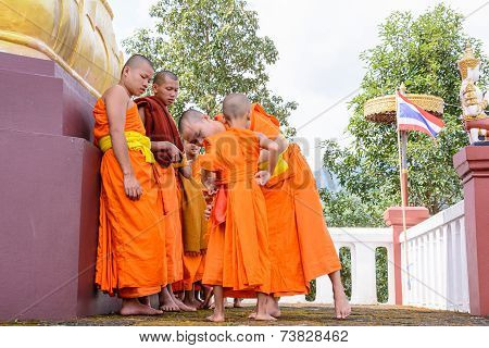 Monks Clad To Novices.