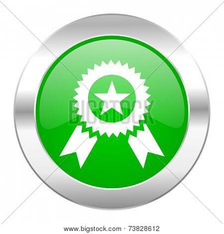 award green circle chrome web icon isolated