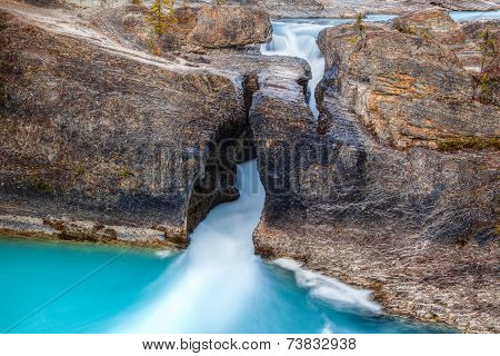 Natural Bridge At Yoho National Park