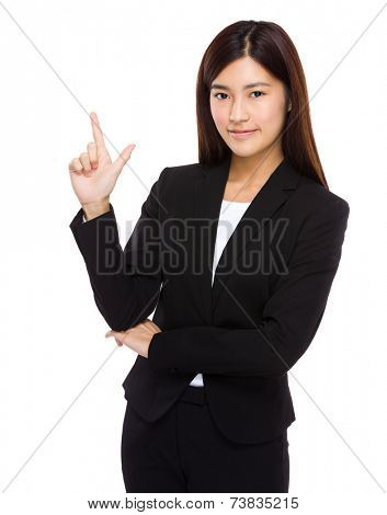 Businesswoman with tick sign