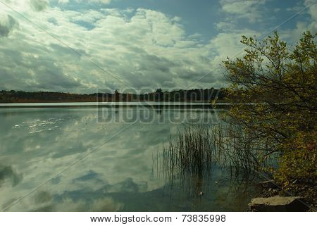 clouds and lake