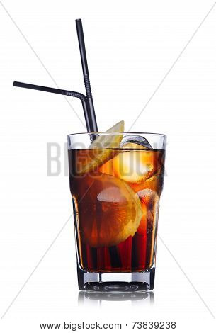 Brandy With Cola Cocktail