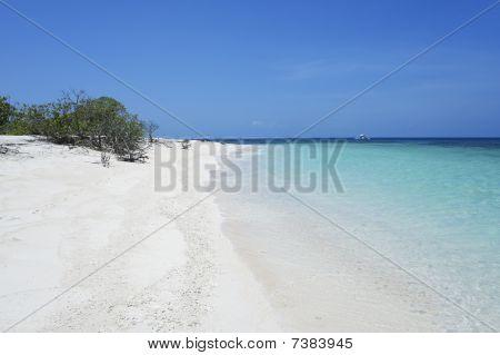 Branco areia azul Mar Tropical Beach
