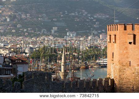 Kizil Kule or Red Tower in Alanya Antalya Turkey