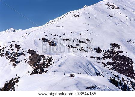 Ski Piste In Mayrhofen